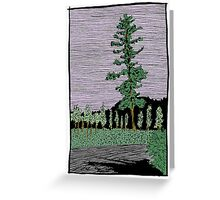 Tree in Meyers, CA Greeting Card