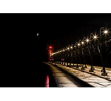 South Haven Lighthouse at Night Photographic Print