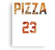 Pizza Jersey Canvas Print