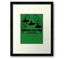 fly my hawkmen! Framed Print