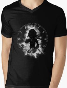 Sakuya Splatter (Black) Mens V-Neck T-Shirt