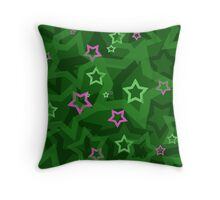 All Of The Stars. Creative star pattern. Very modern and colorful.  Throw Pillow