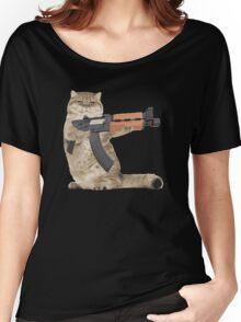 AK47 Kalashnikat Funny Cat Gun Women's Relaxed Fit T-Shirt