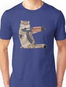 AK47 Kalashnikat Funny Cat Gun Unisex T-Shirt