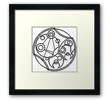 'Don't Forget to Be Awesome' in Gallifreyan Framed Print