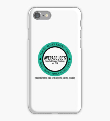 Average Joe's Scale models and miniatures PTSD iPhone Case/Skin