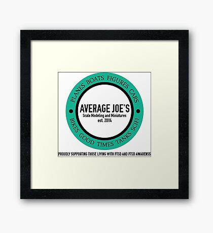 Average Joe's Scale models and miniatures PTSD Framed Print