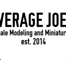 Average Joe's Scale models and miniatures PTSD Sticker