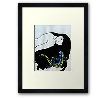 Self Gecko Framed Print