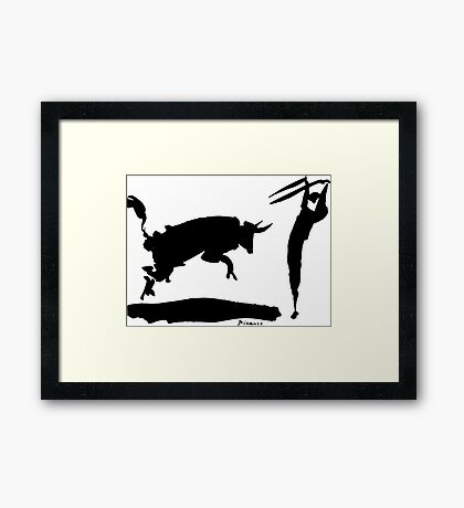 Bull fight III paint by Pablo Picasso Framed Print
