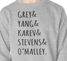 Greys anatomy squad Black Grey, Yang, Karev, Stevens, O'maley Pullover