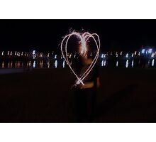 Heart Sparkler Photographic Print