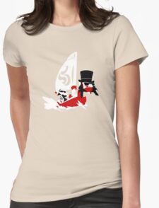 Link is on a boat with t pig Womens Fitted T-Shirt