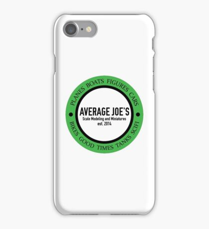 Average Joe's Scale models and miniatures iPhone Case/Skin