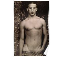 Young Channing Tatum Shirtless Poster