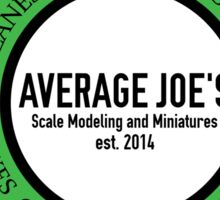 Average Joe's Scale Models Vehicles Sticker