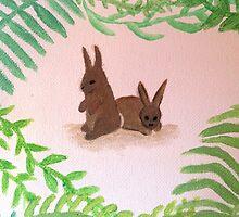 Woodland Rabbit Friends by ameliabliss