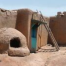 On the Taos Pueblo by Gordon Beck