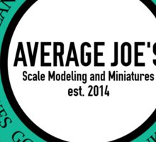 Average Joe's Scale models and miniatures PTSD vehicles Sticker