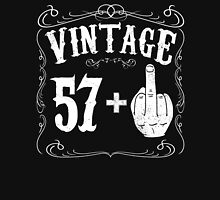 Vintage middle finger salute 58th birthday gift funny 58 birthday 1958 Unisex T-Shirt