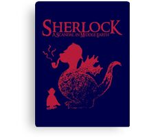 Sherlock - A scandal in Middle Earth (red) Canvas Print