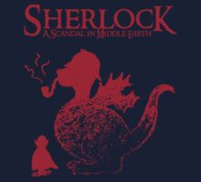 Sherlock - A scandal in Middle Earth (red) Kids Clothes