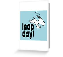 leap day snoopy Greeting Card