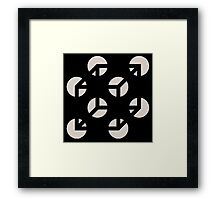 Use Your Illusion White Framed Print