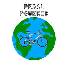 Pedal Powered, no fossil fuels required. Photographic Print
