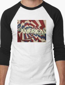 America Men's Baseball ¾ T-Shirt