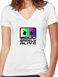 Barely Alive Women's Fitted V-Neck T-Shirt