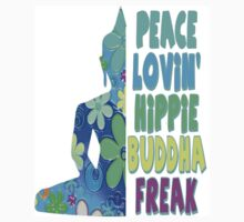 Neon Buddha Hippie Flower Child One Piece - Short Sleeve