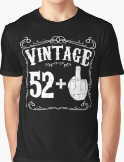 Vintage middle finger salute 53rd birthday gift funny 53 birthday 1963 Graphic T-Shirt