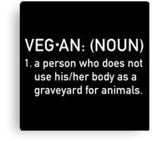 Vegan Humor 'Graveyard' Canvas Print