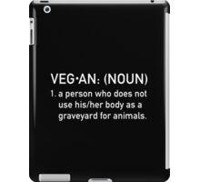Vegan Humor 'Graveyard' iPad Case/Skin