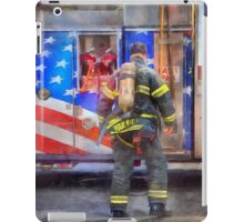 FDNY Firefighter fireman fire truck Illustration Painting art design fire house watercolor iPad Case/Skin