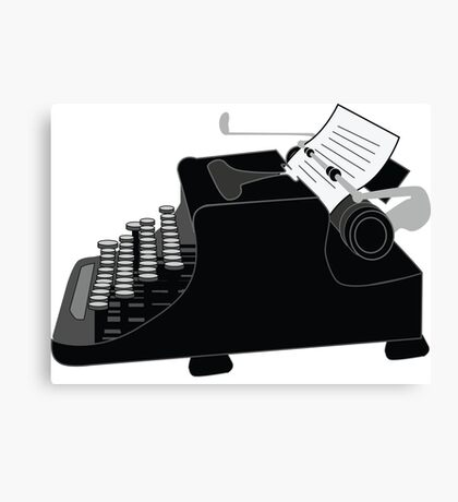 Typewriter Canvas Print