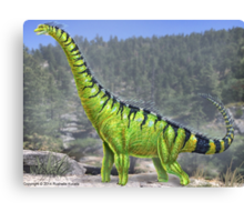 Brachiosaurus Reconstruction Canvas Print