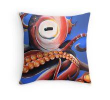 Smiling Cephalopod Throw Pillow