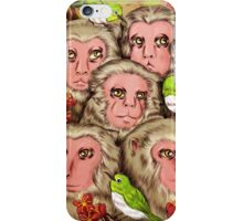 Macaques! iPhone Case/Skin