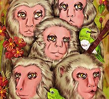 Macaques! by Marta Tesoro