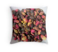Pink pistachios Throw Pillow