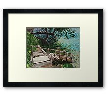 The Dinghy Is Waiting, Omokoroa, New Zealand Framed Print