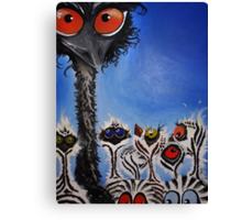Daddy Emu Canvas Print