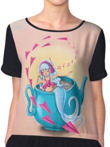 Teapot Mermaid Chiffon Top