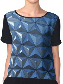Corners and Points Chiffon Top