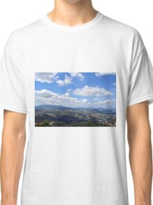 Natural scenery with the hills of San Marino and cloudy sky. Classic T-Shirt