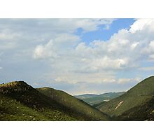 Natural landscape with the hills from Assisi. Photographic Print