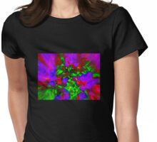 FLOWERS IN HARMONY Womens Fitted T-Shirt