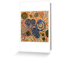 bombing Milan (original sold) Greeting Card